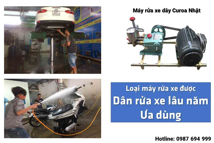 may rua xe day dai nhat ban