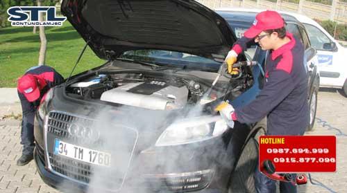 may rua xe bang hoi nuoc nong chay diesel dmf