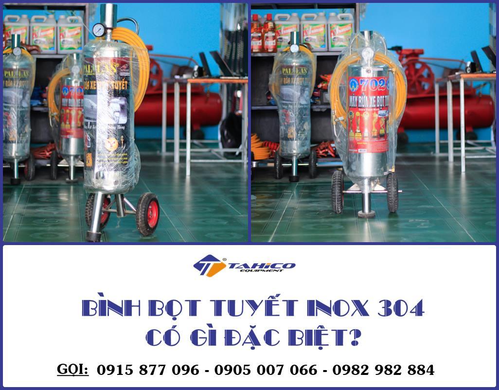binh bot tuyet inox 304 khac gi