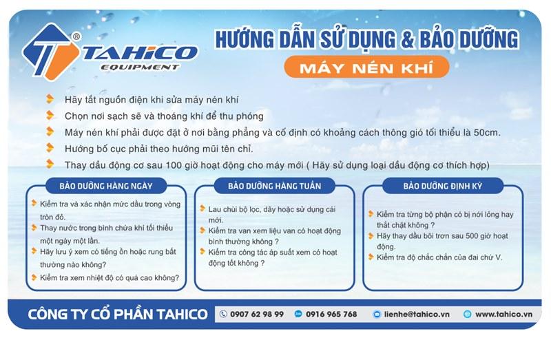 Khuyến cáo khi sử dụng máy nén khí