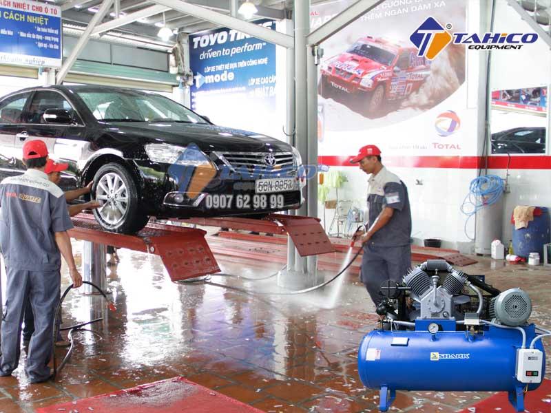 Máy nén không khí không thể thiếu cho trạm rửa xe