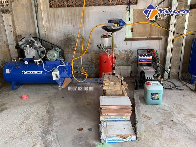 Lắp máy hơi cho trạm rửa xe