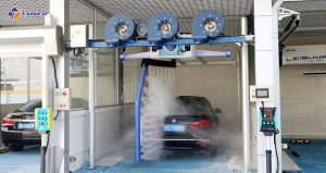 Mô hình rửa xe thông minh hoàn toàn tự động