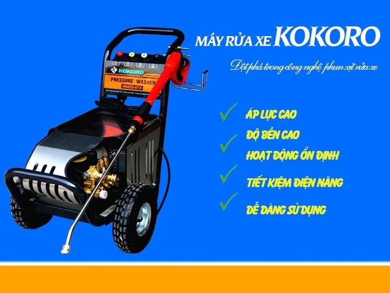 Máy rửa xe cao áp Kokoro đang được ưa chuộng nhất hiện nay